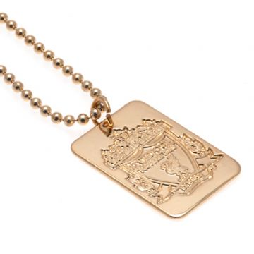 Liverpool FC Gold Plated Dog Tag & Chain